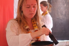 Learn how to Rub Tibetan singing bowls To Create Vibrational Sound Healing During Session
