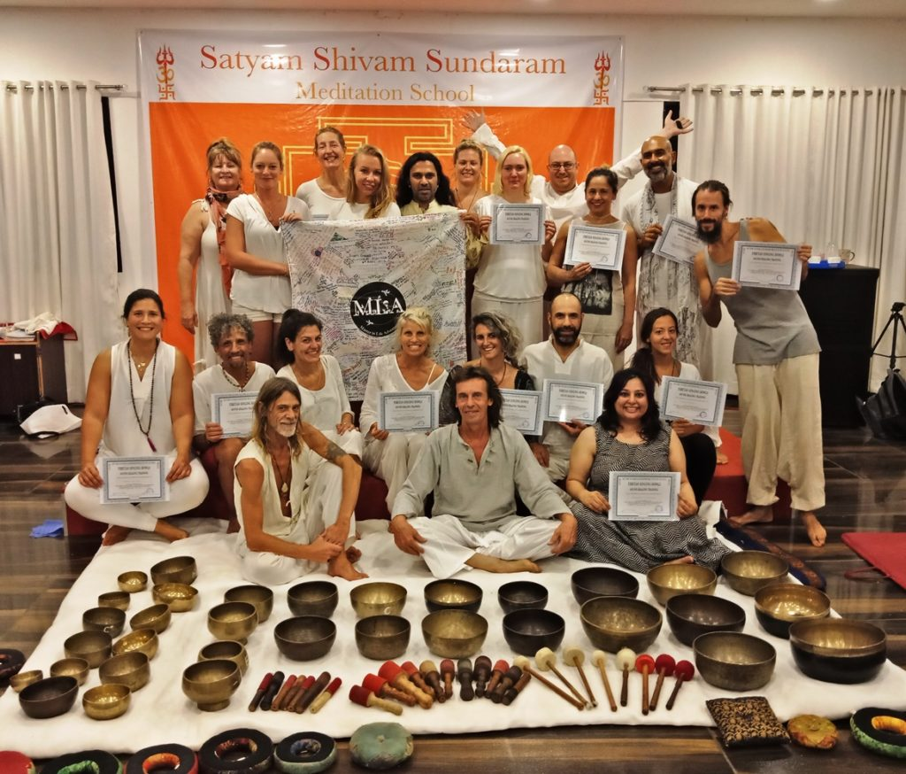 Tibetan Singing Bowls Sound Training India,Sound Therapist Training India
