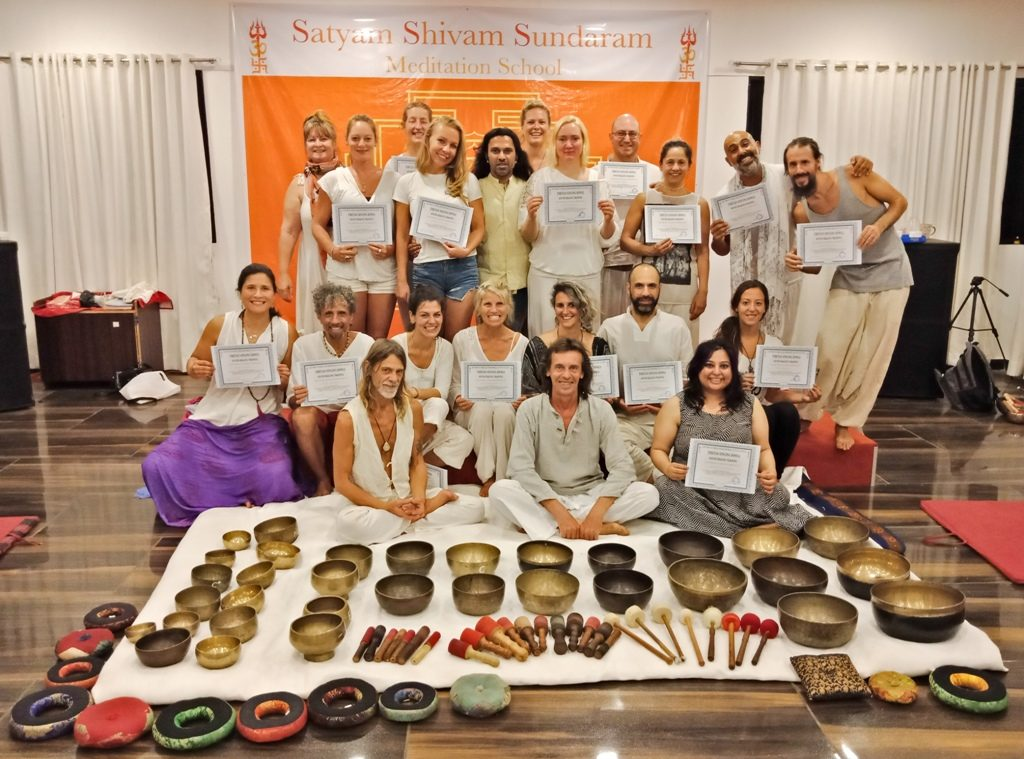 Master Sound healing Therapist Training, Nada Yoga Singing Bowls Teacher Program India