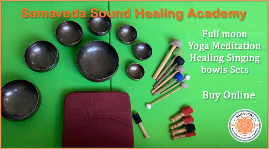 Buy Full-moon Seven Chakra Sound Healing Singing Bowl Sets Italy